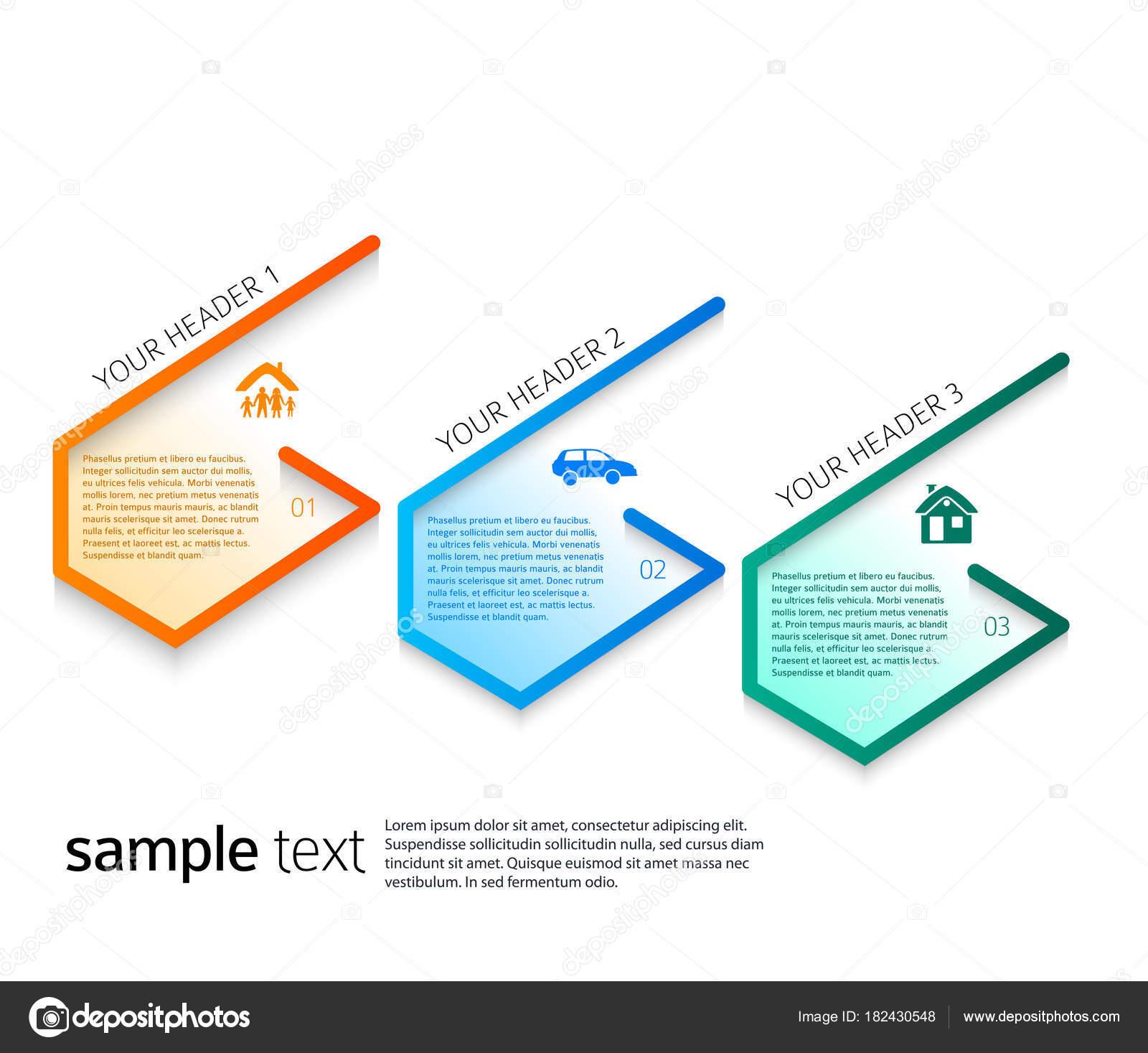 Moderno diseño estilo infografía plantilla diferentes tipos de ...