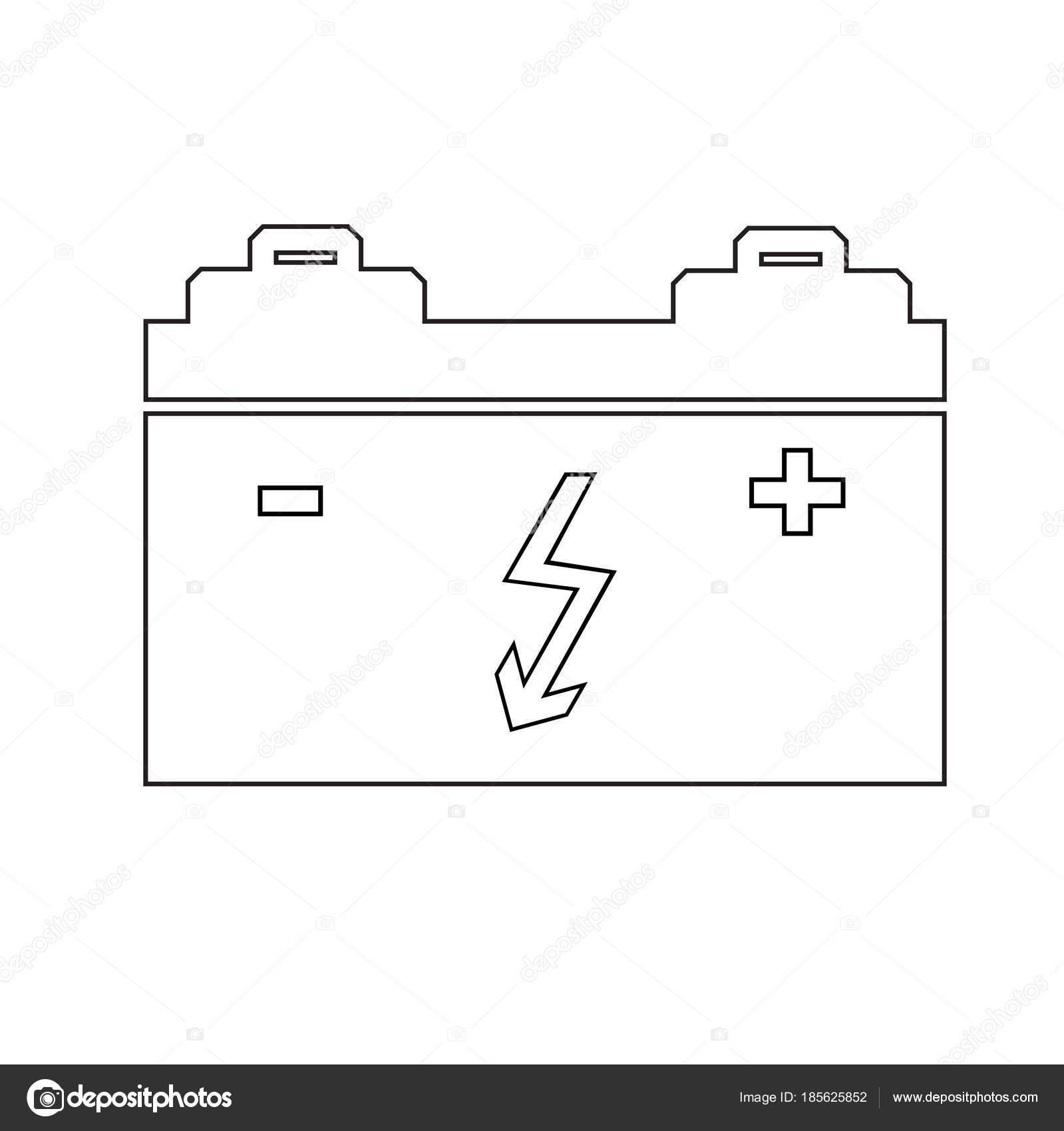 design element symbol battery icon automobile service theme01 ...