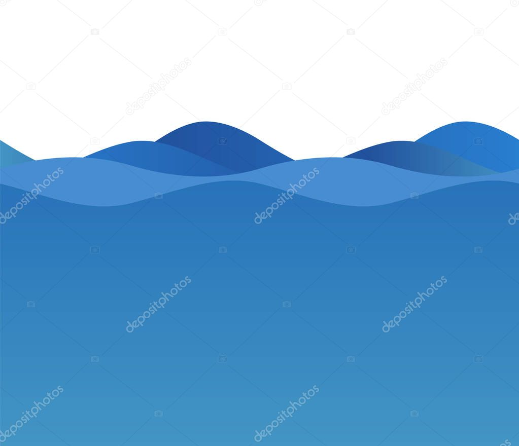 Wavy blue wave design elements background team sea ocean01
