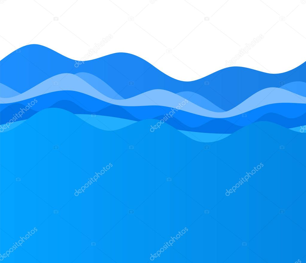 Wavy blue wave design elements background team sea ocean03