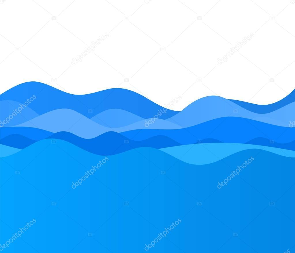 Wavy blue wave design elements background team sea ocean05