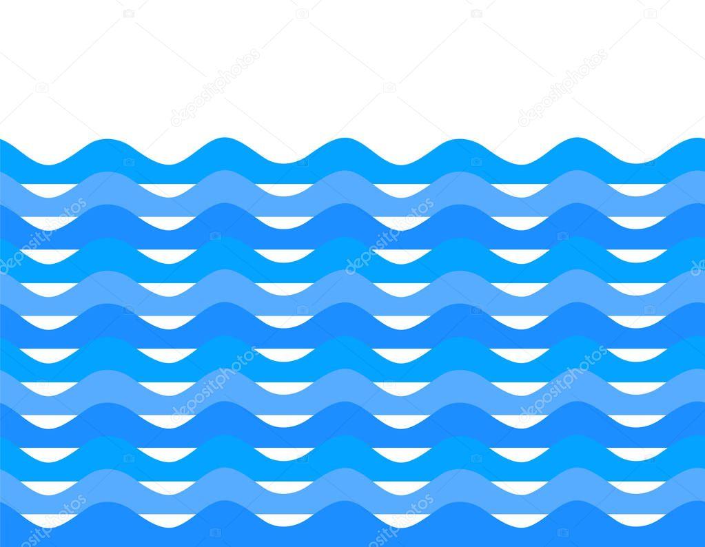 Wavy blue wave design elements background team sea ocean06