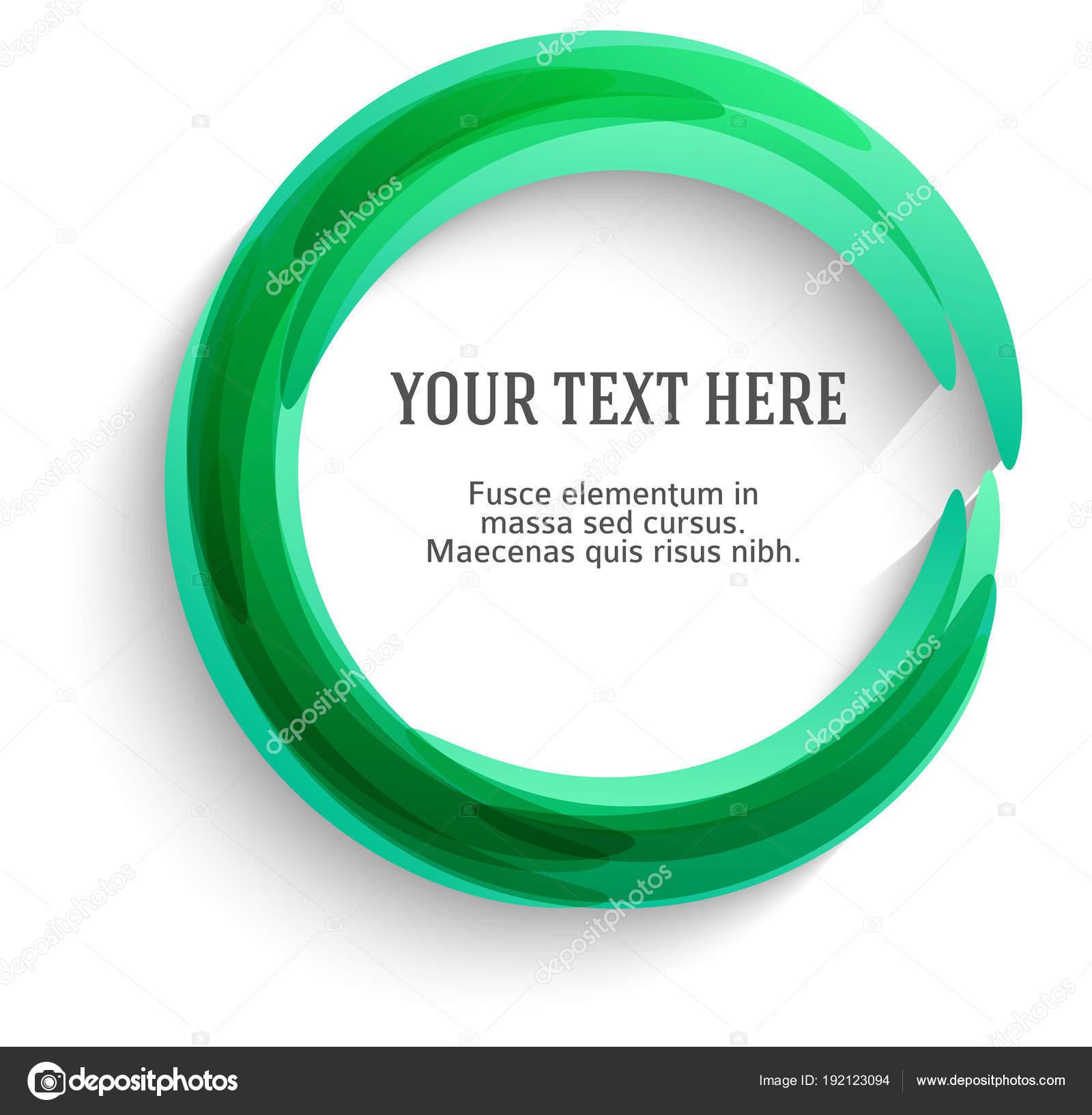 Círculo de borrosas líneas de gradiente de plantilla en blanco de ...