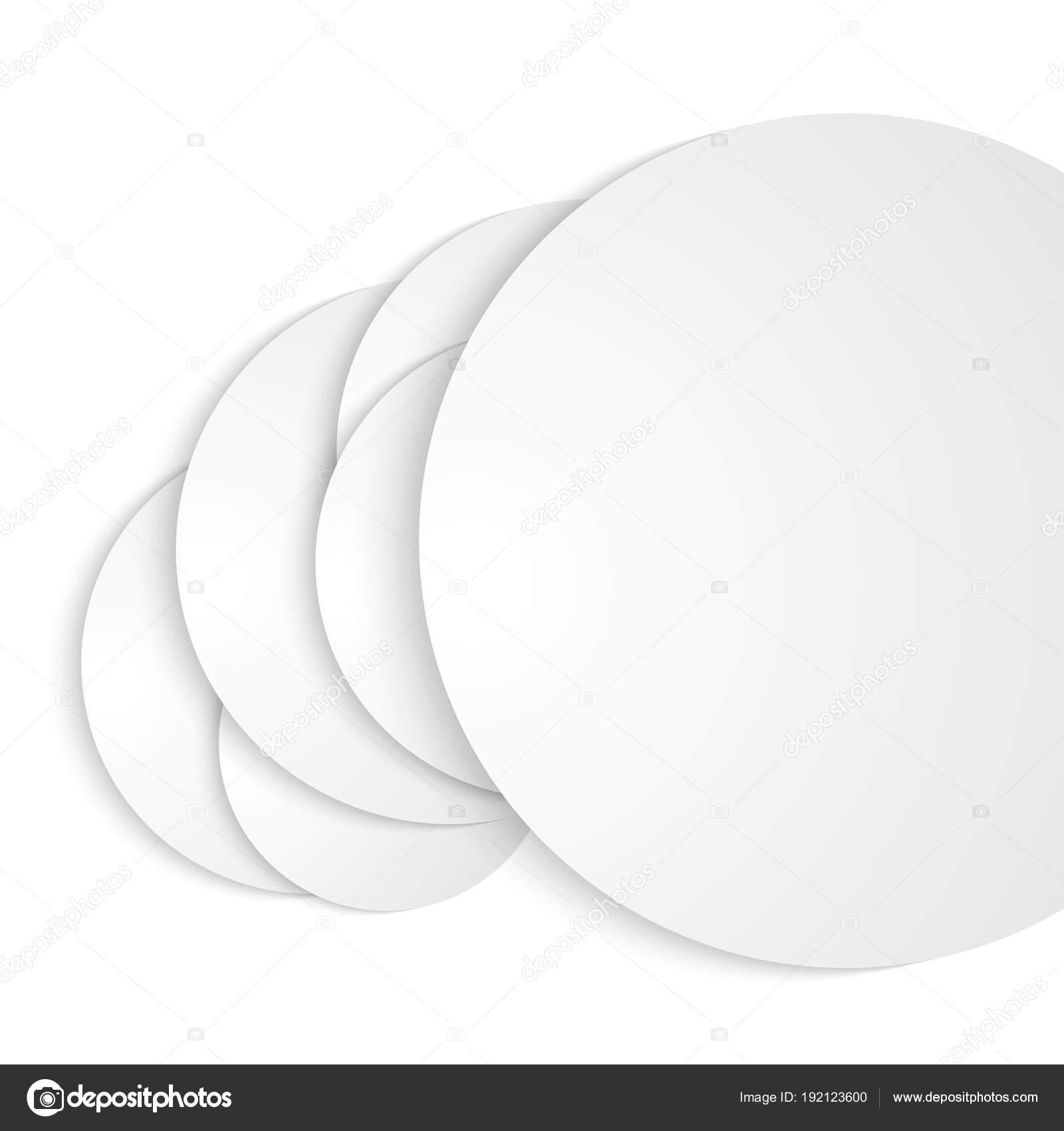 design elements circular paper cut on white background isolated0