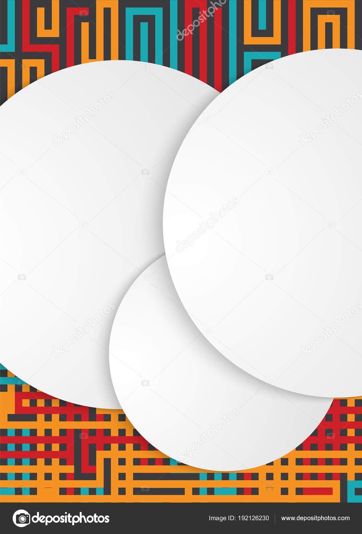 design elements white circular paper cut background template02