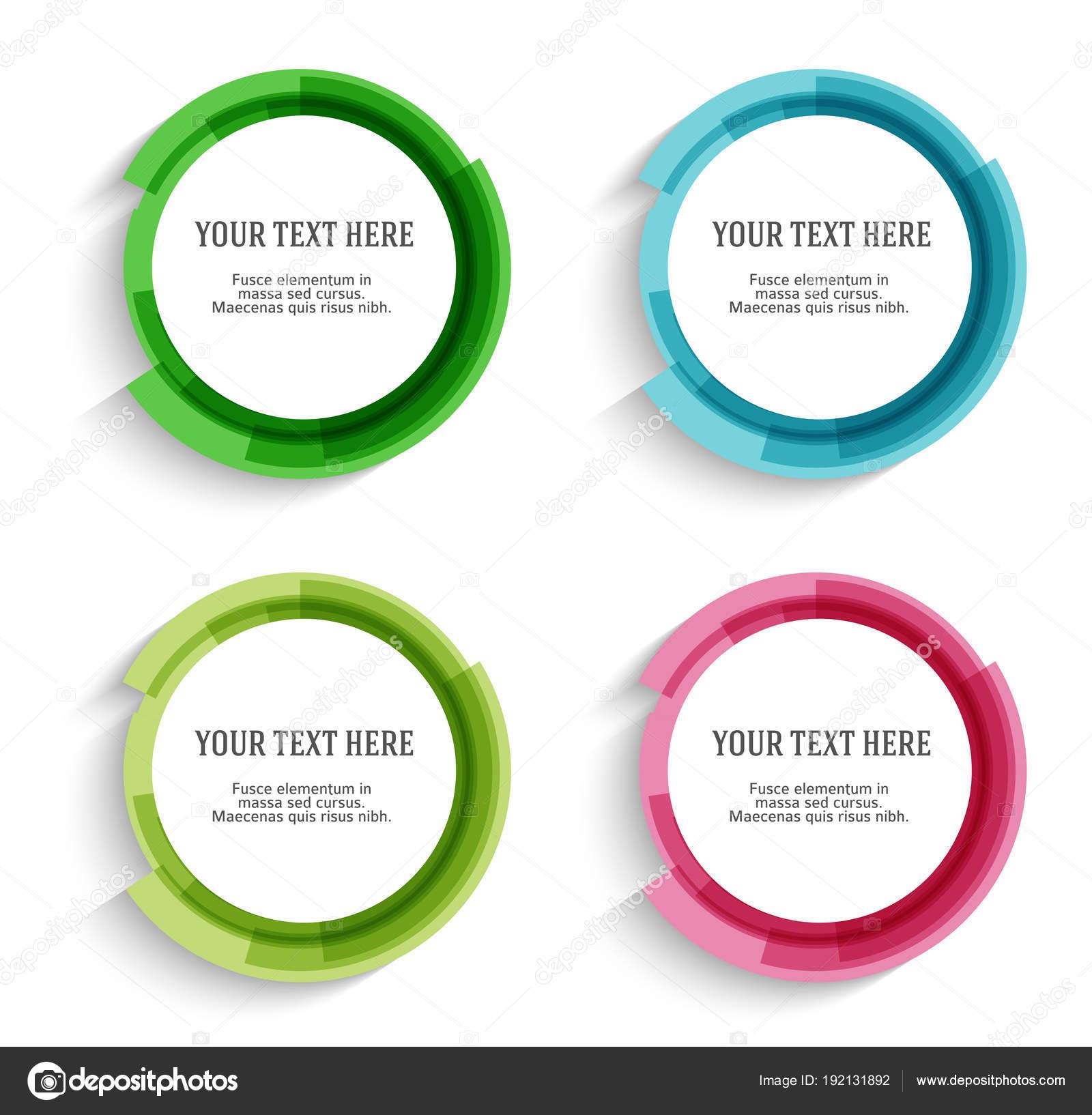 Legen Sie Label leere Vorlage verschwommen Farbskalen Kreis ring02 ...