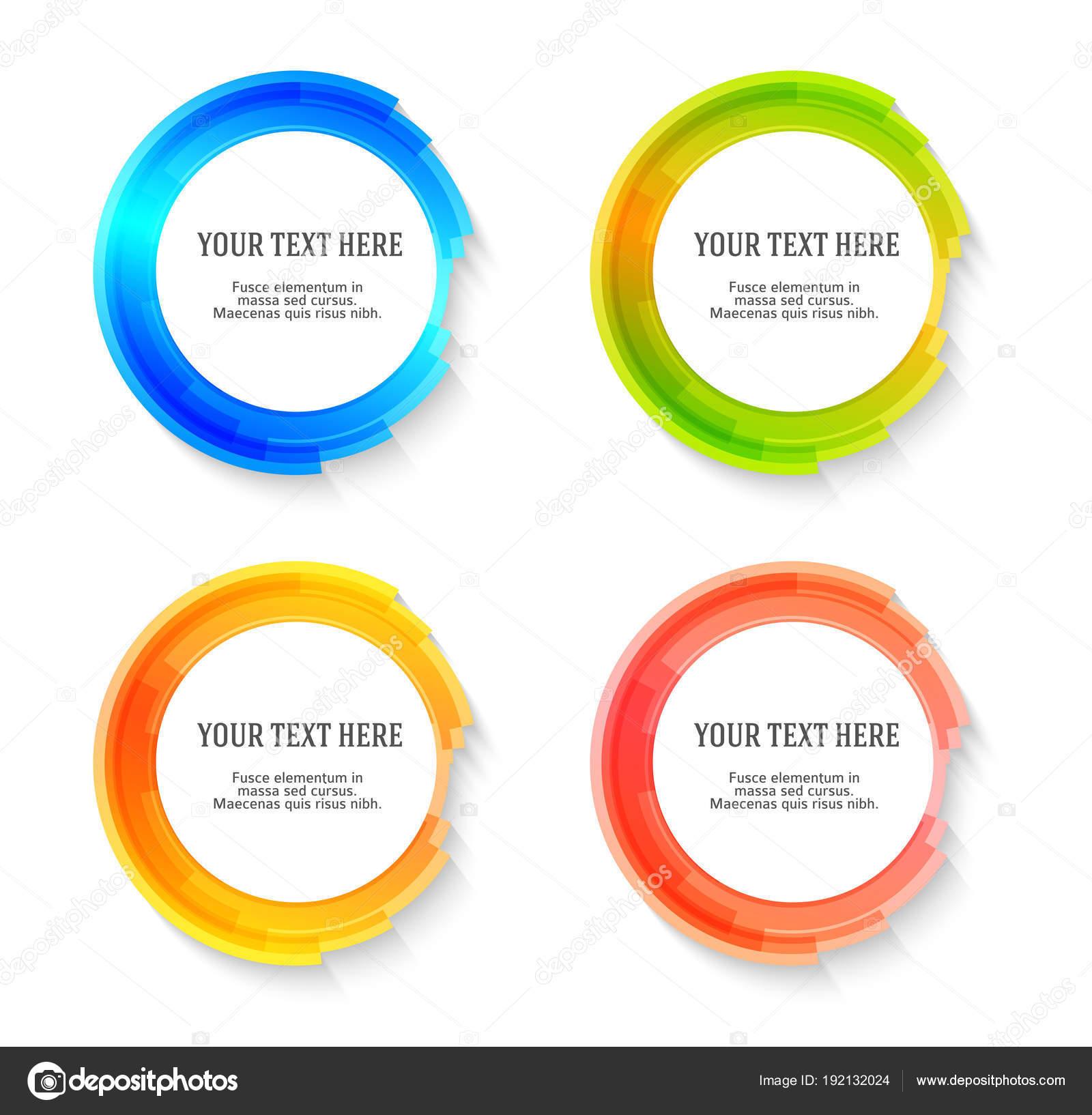 Legen Sie Label leere Vorlage verschwommen Farbskalen Kreis ring03 ...