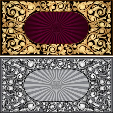 decorative ornate banners
