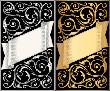 decorative banners with ornament