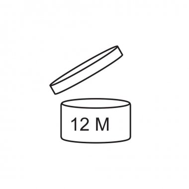 Period After Opening use 12 months sign icon.