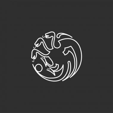 Dragon vector icon