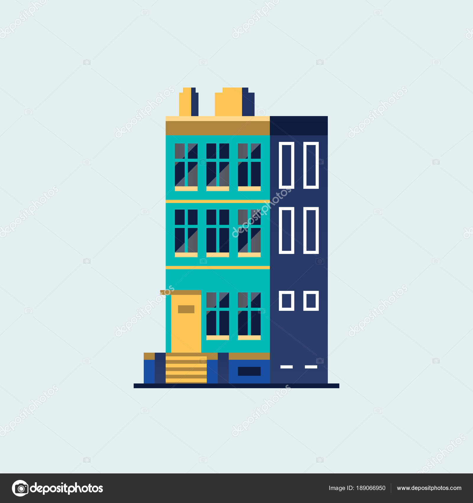 Haus der Familie. Modernes Haus — Stockvektor © Antikwar #189066950
