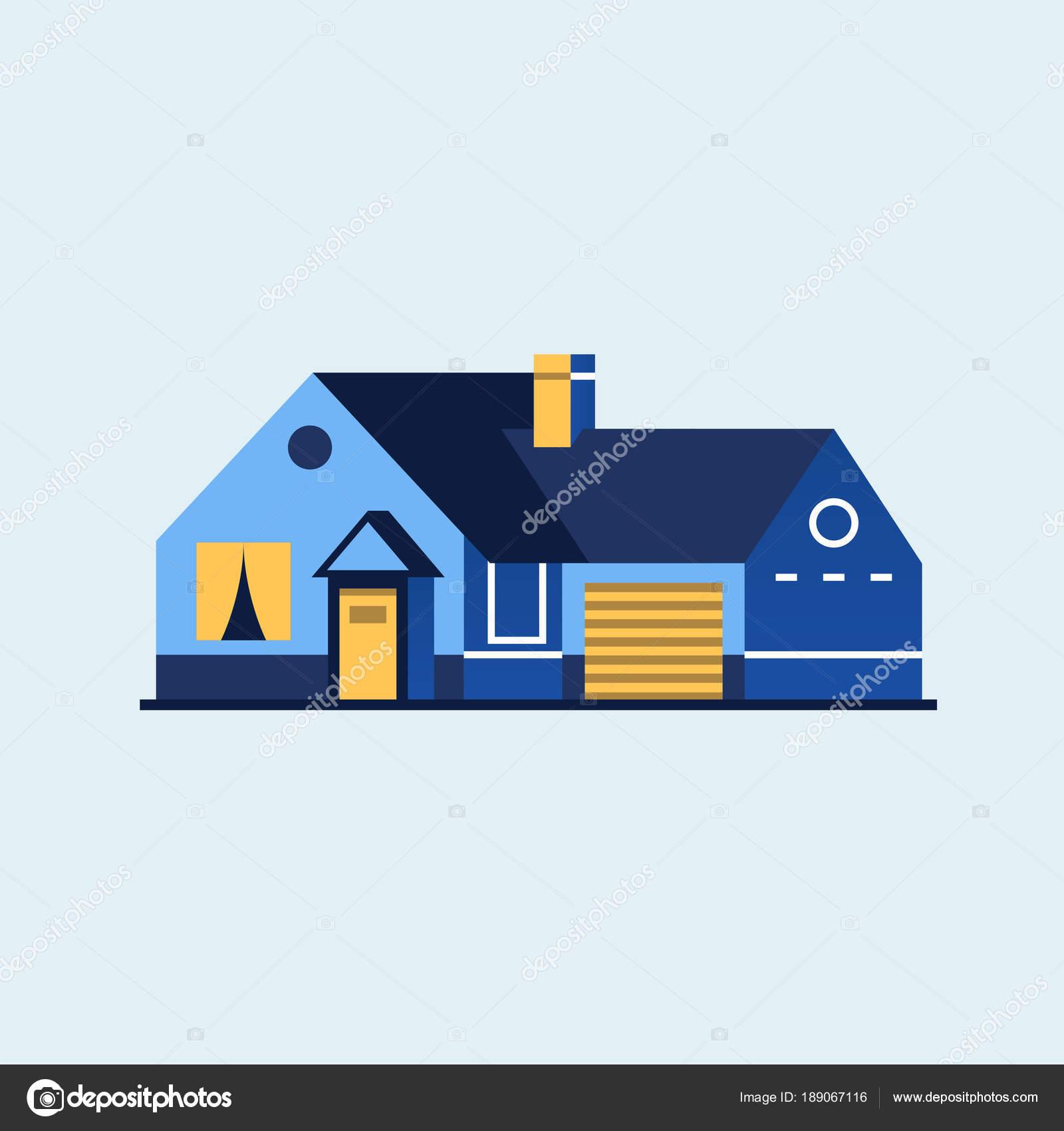 Haus der Familie. Modernes Haus — Stockvektor © Antikwar #189067116