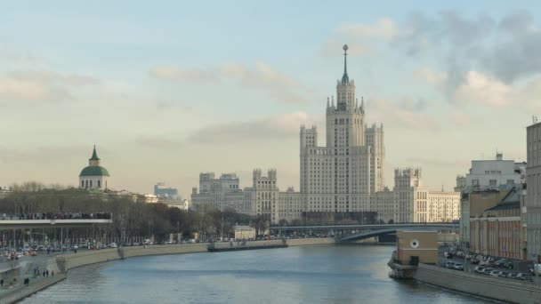 View of the Moscow River and Stalins high-rise