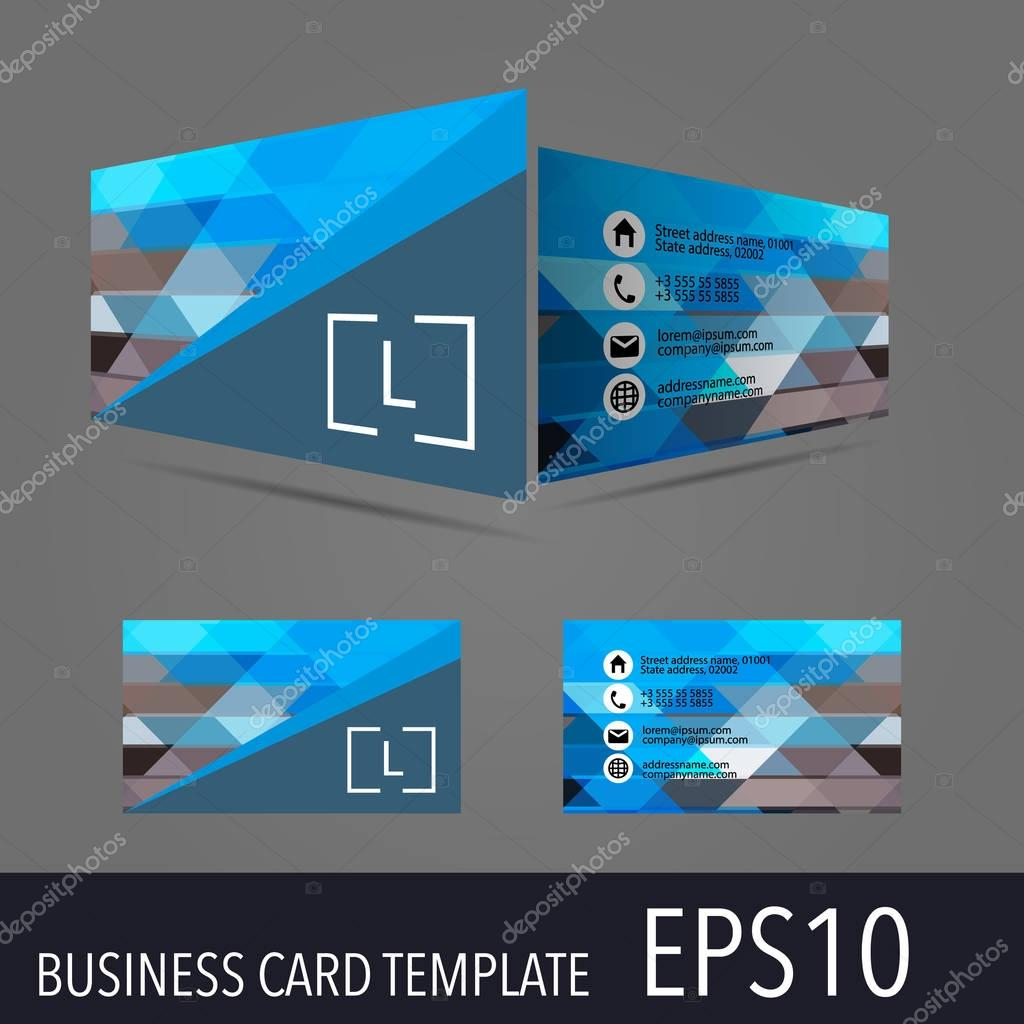 Vector business card template stock vector arybickii 129221130 3d vector business card template modern simple luxury standard business card design with sharp corners vector by arybickii flashek Gallery