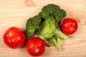 čerstvé zelené brokolice