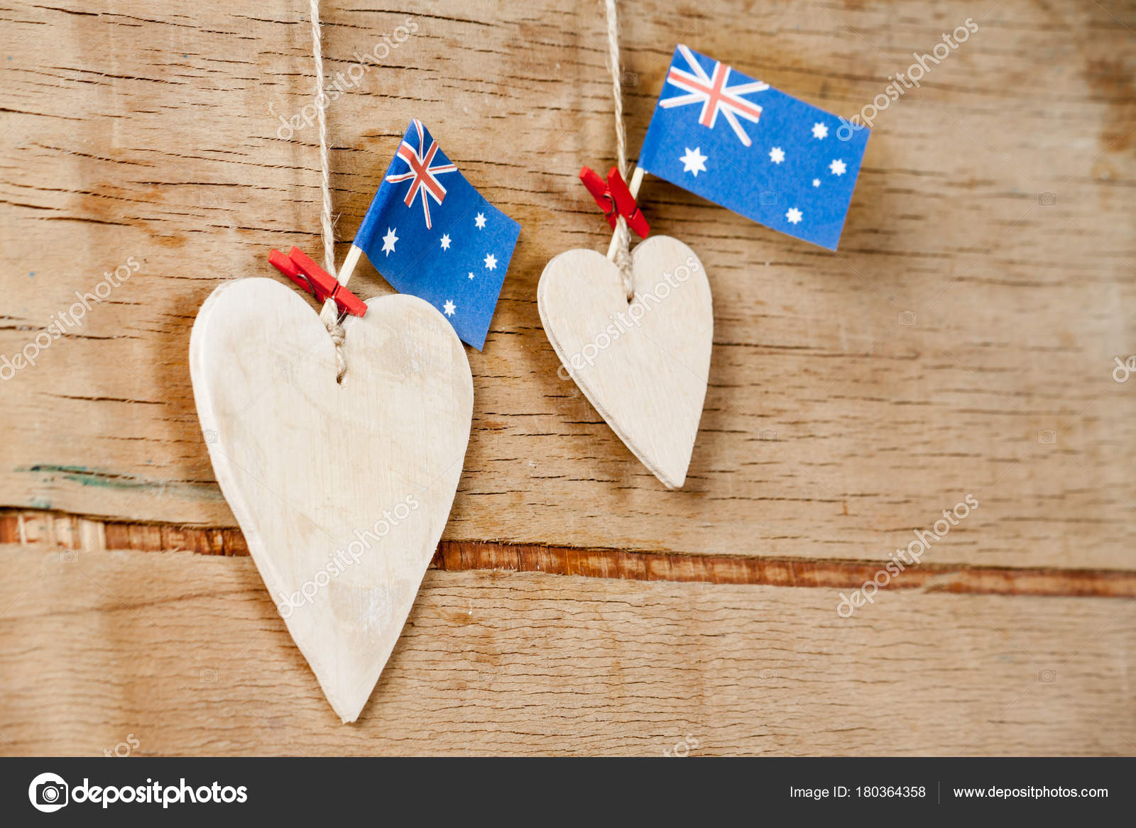 Wood Heart With Australian Flag Stock Photo Arybickii 180364358