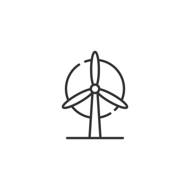 wind power Icon on the white background. Vector