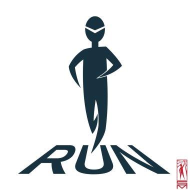 Symbol runner running