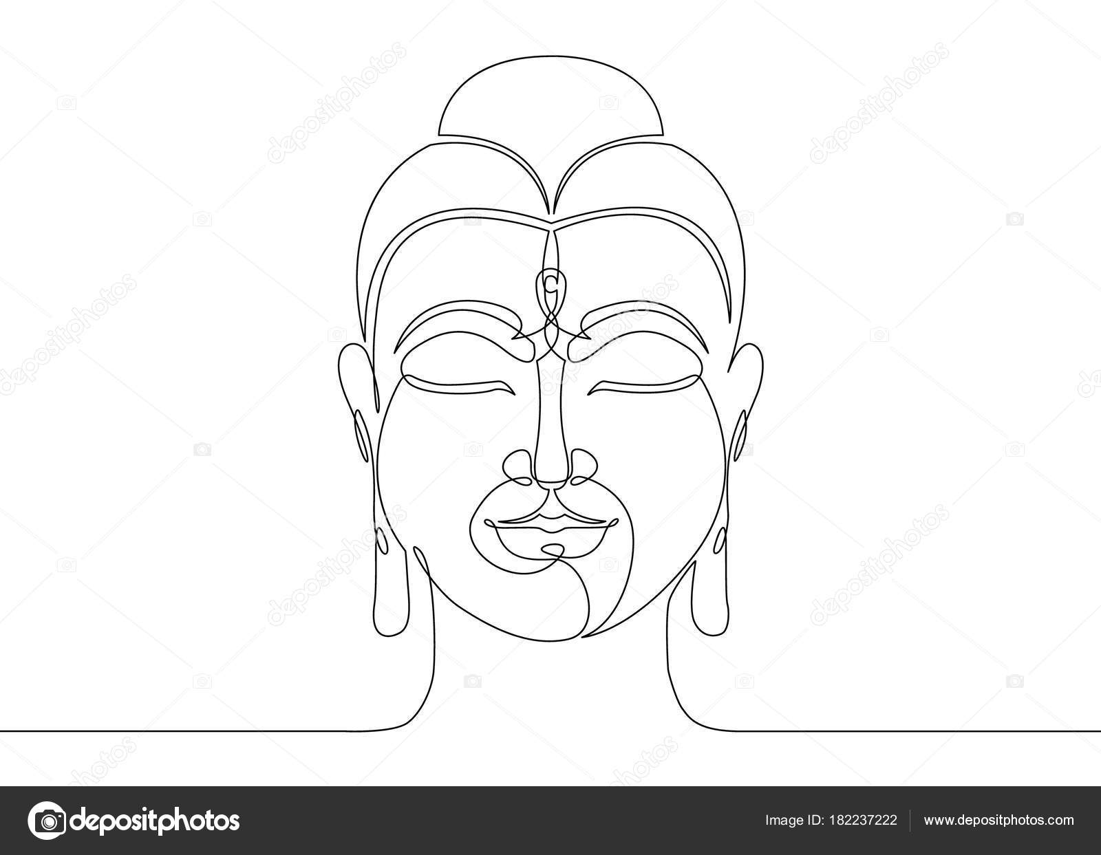 One Continuous Line Drawn Buddha Stock Vector Derplan13 182237222