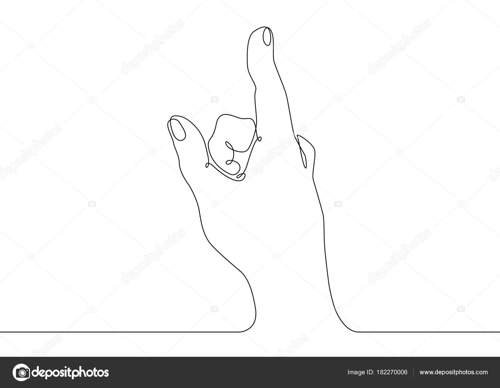 One Line Ascii Art Thumbs Up : Line drawing of hand pointing arm by