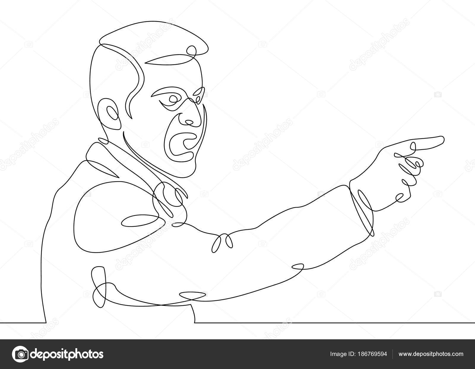 Single Line Character Art : Continuous one single line drawn character politics of business