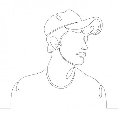 portrait of a young man in a hat, hat, baseball cap.