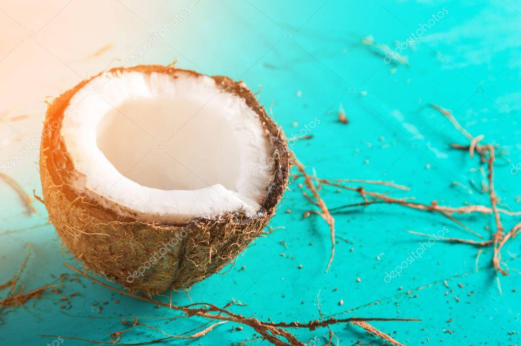 Картинки с кокосами на голубом фоне