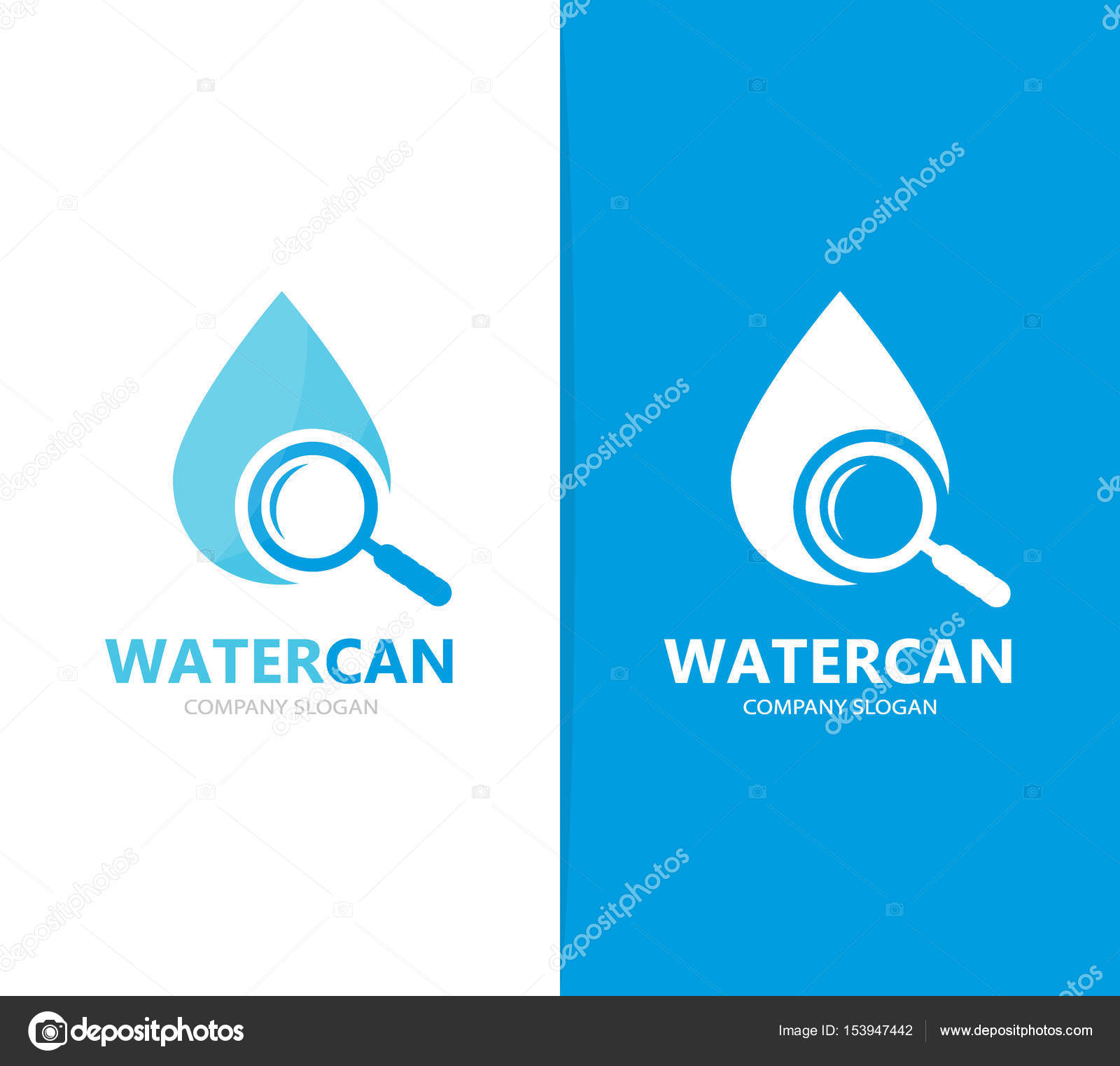 Vector Of Oil And Loupe Logo Combination Drop And Magnifying Glass
