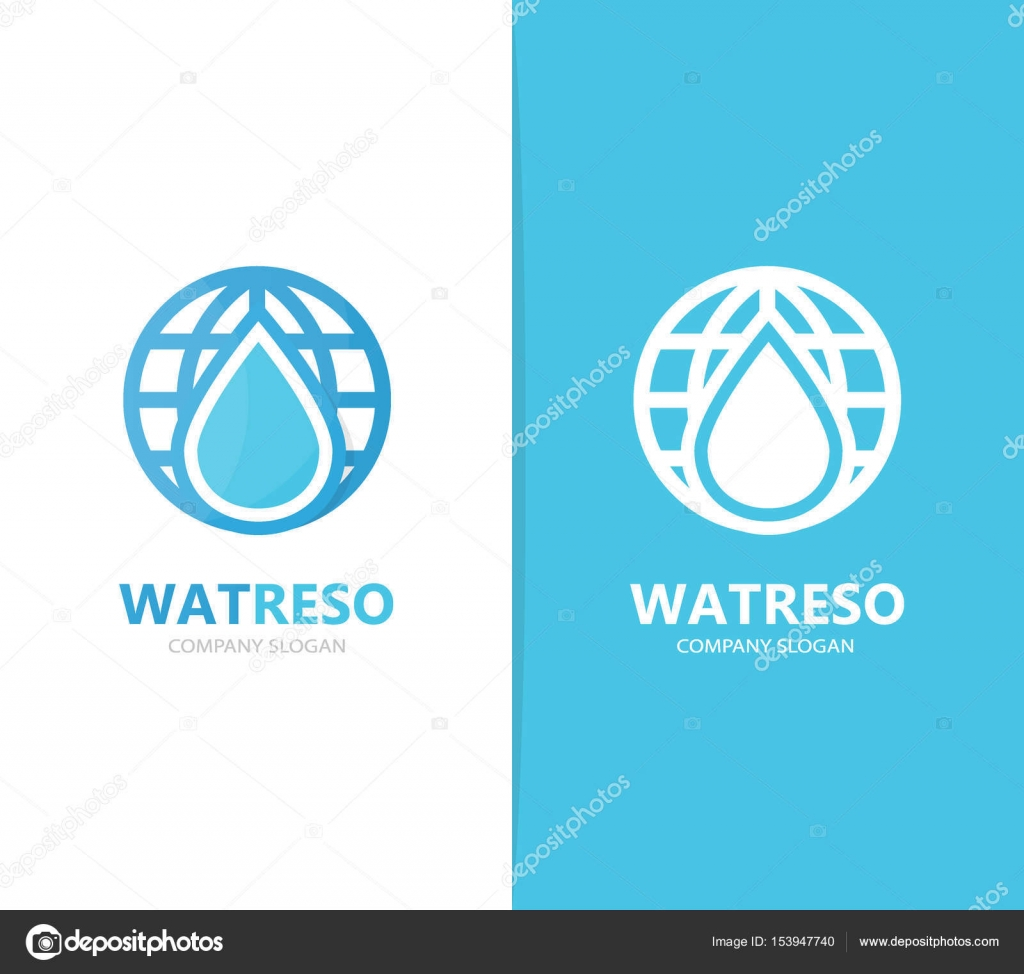 Vector Of Oil And Planet Logo Combination Drop And World Symbol Or