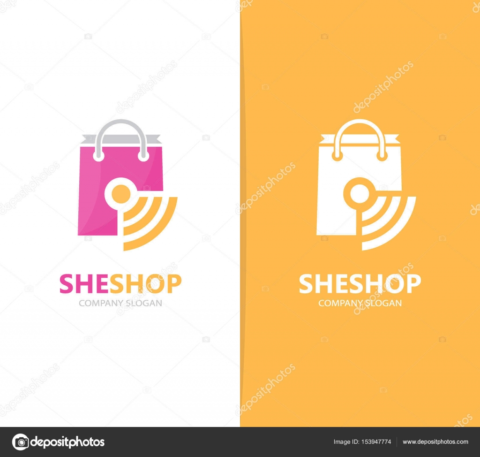 Vector de combinación de logo shop y wifi. Venta y señal símbolo o ...