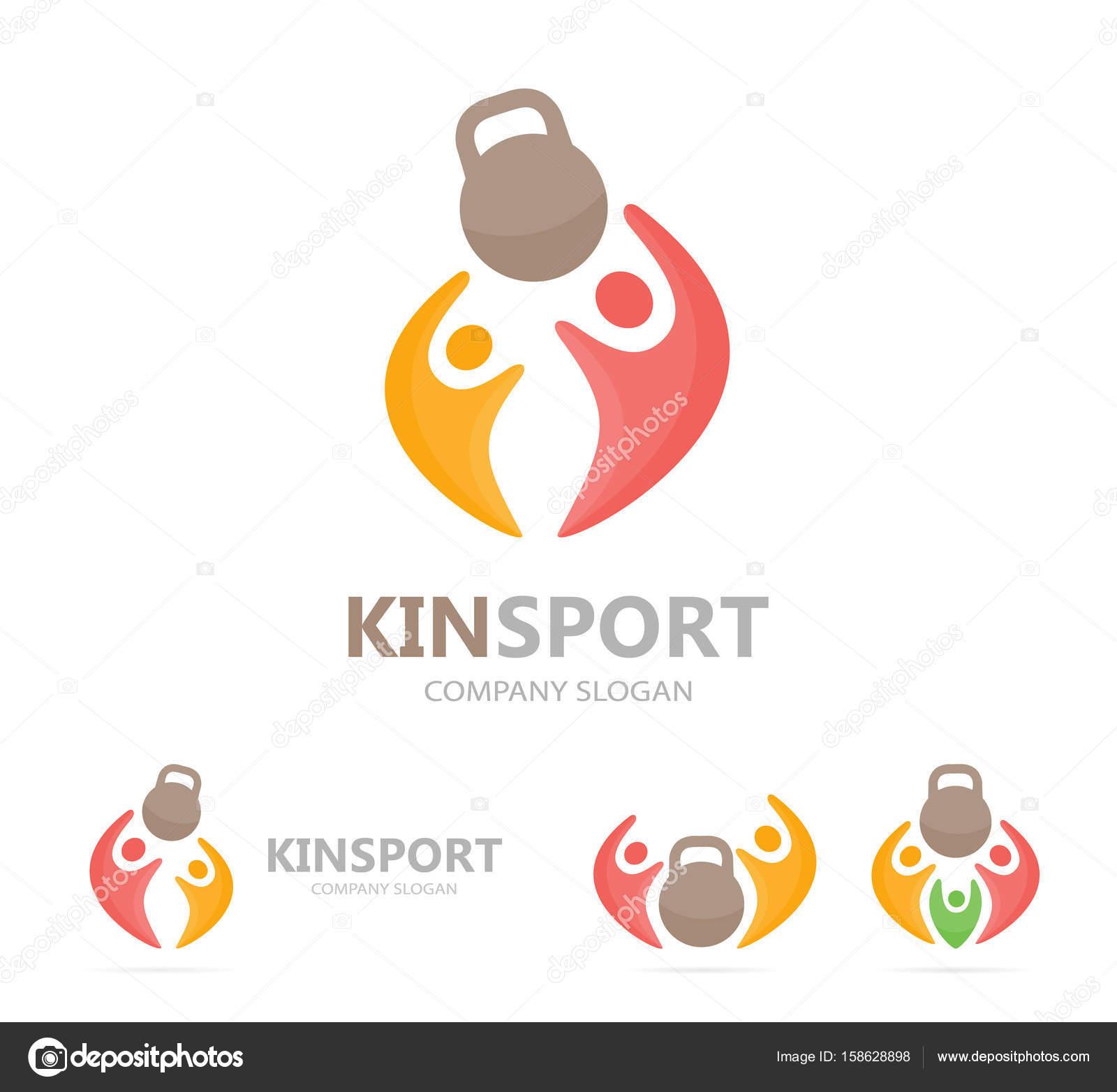 Simbolo De La Familia Unida Combinación Del Logo Deporte Y