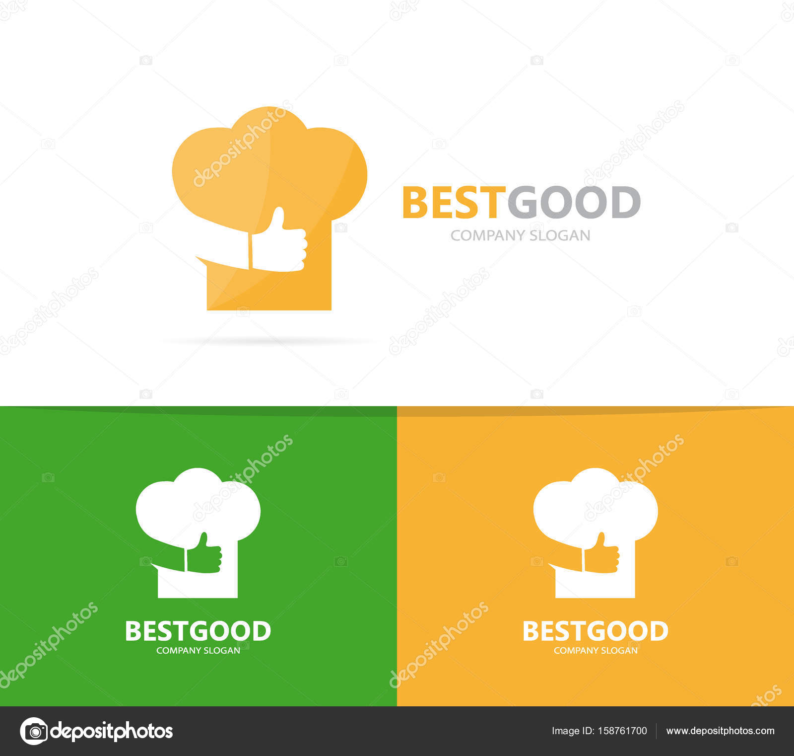 Chef Hat And Like Logo Combination Kitchen And Best Symbol Or Icon