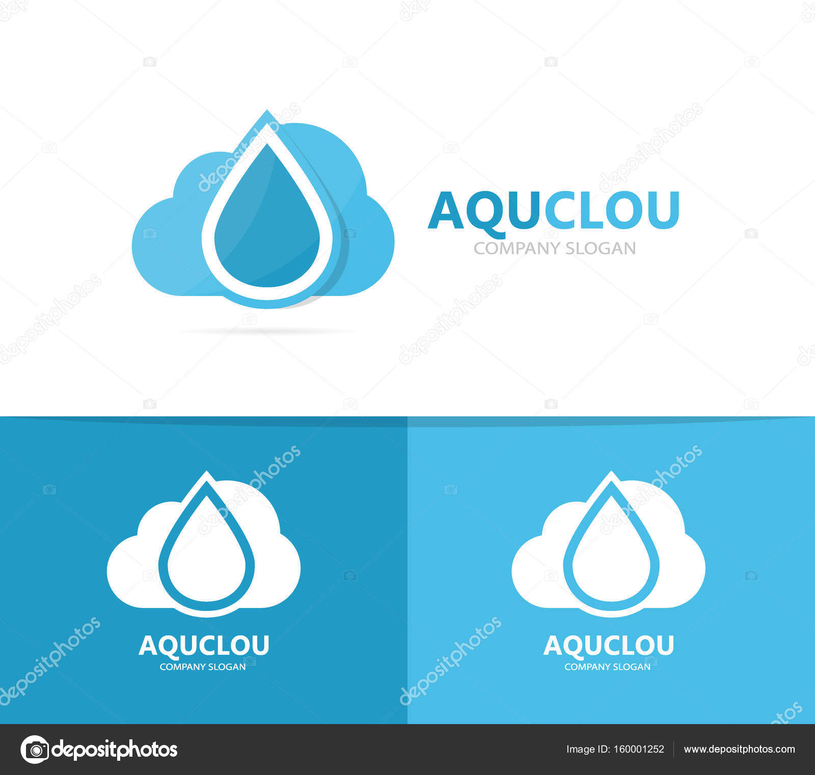 Oil And Cloud Logo Combination Drop And Storage Symbol Or Icon