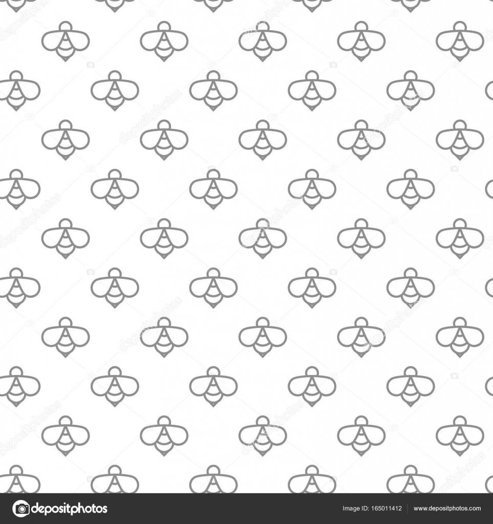 De patrones sin fisuras las abejas digital único con varios iconos y ...