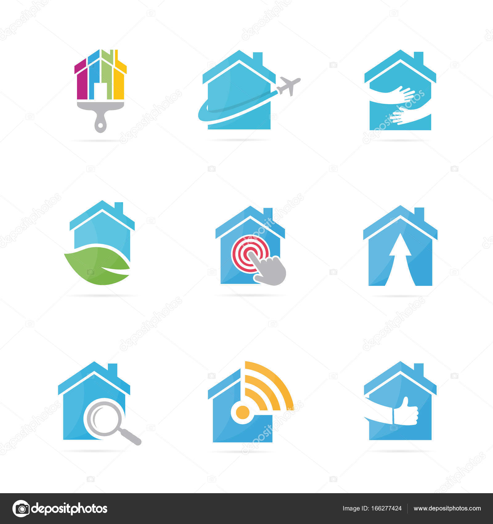 Set of real estate logo combination house and building symbol or set of real estate logo combination house and building symbol or icon unique rent biocorpaavc Image collections