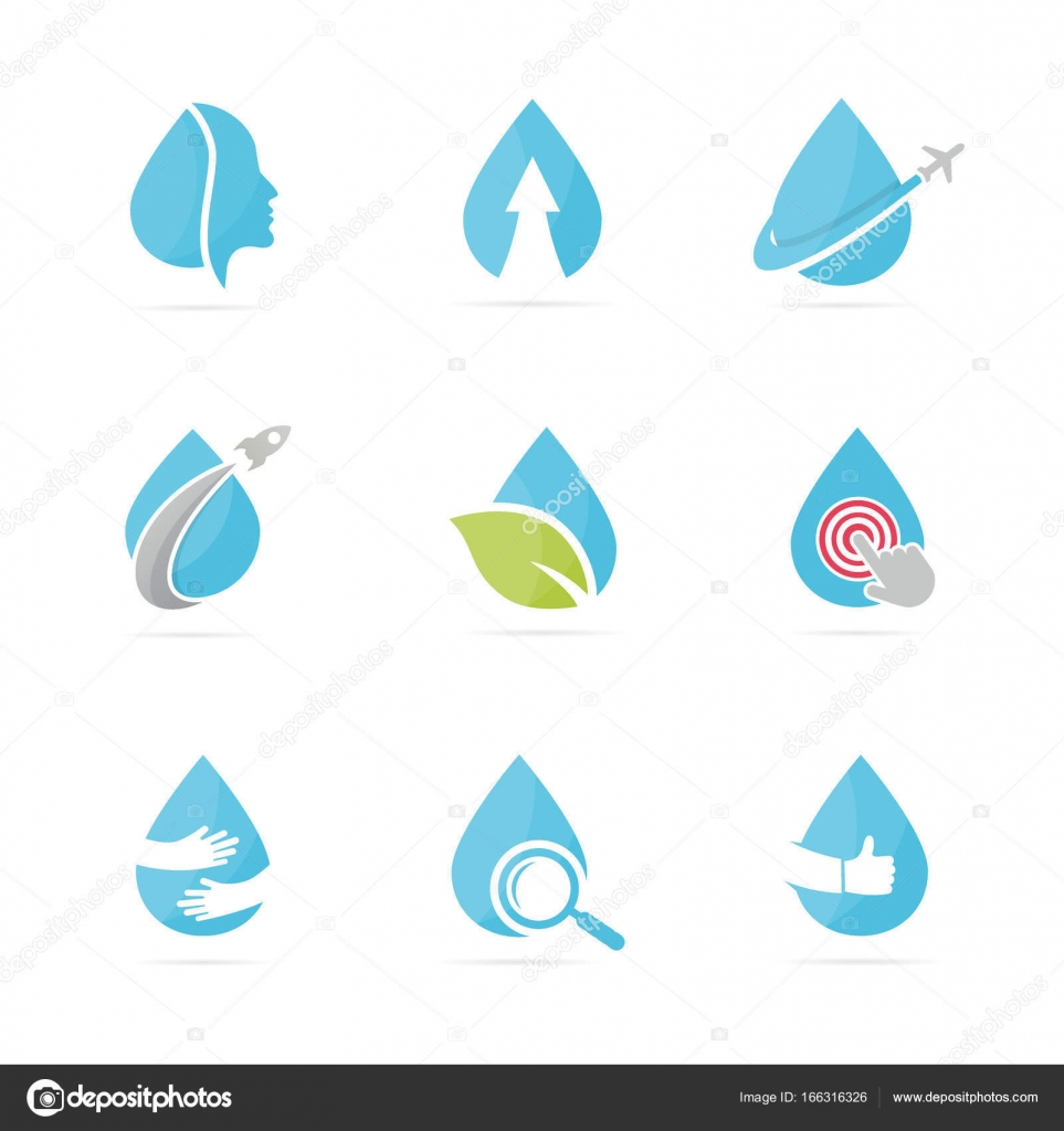 Set of water drop logo combination oil and droplet symbol or icon set of water drop logo combination oil and droplet symbol or icon unique aqua biocorpaavc Image collections