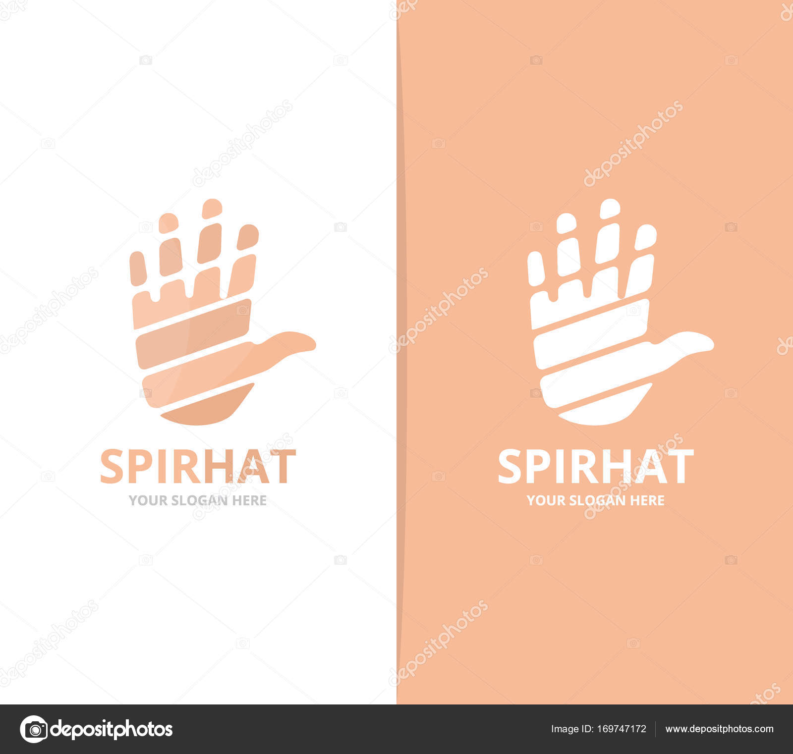 vector of hand logo combination arm symbol or icon unique support