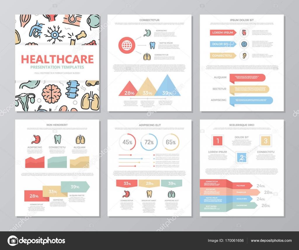 Satz von farbigen Medizin und des Gesundheitswesens Elemente für ...