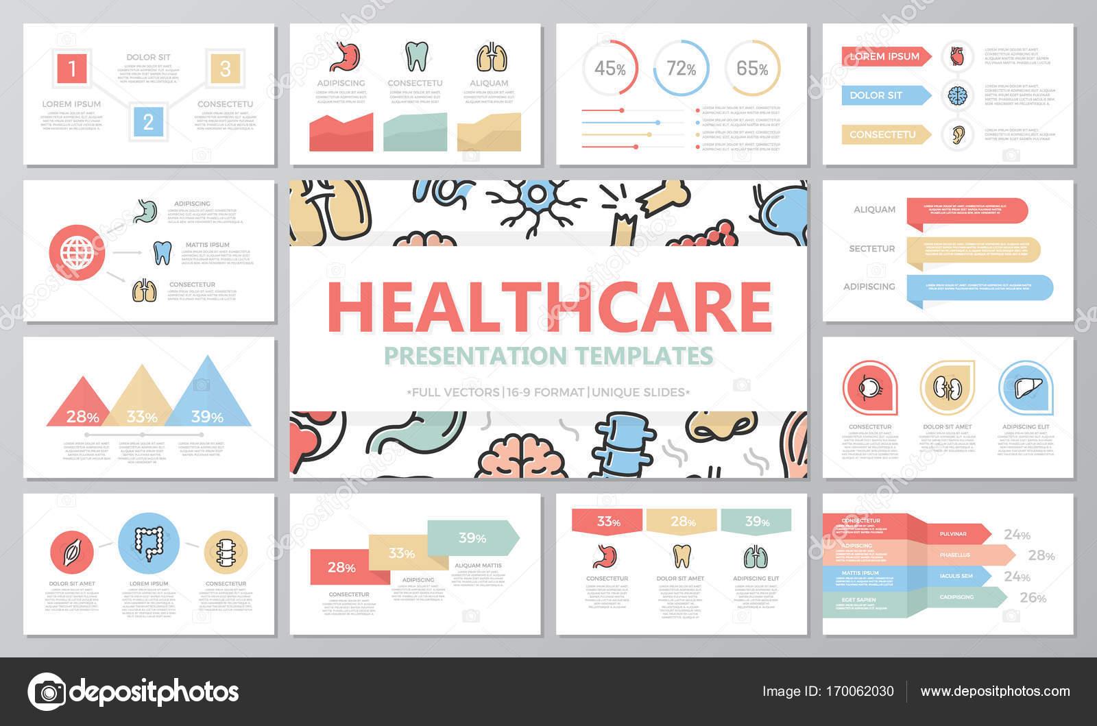 Conjunto de elementos médicos y de salud para diapositivas de la ...