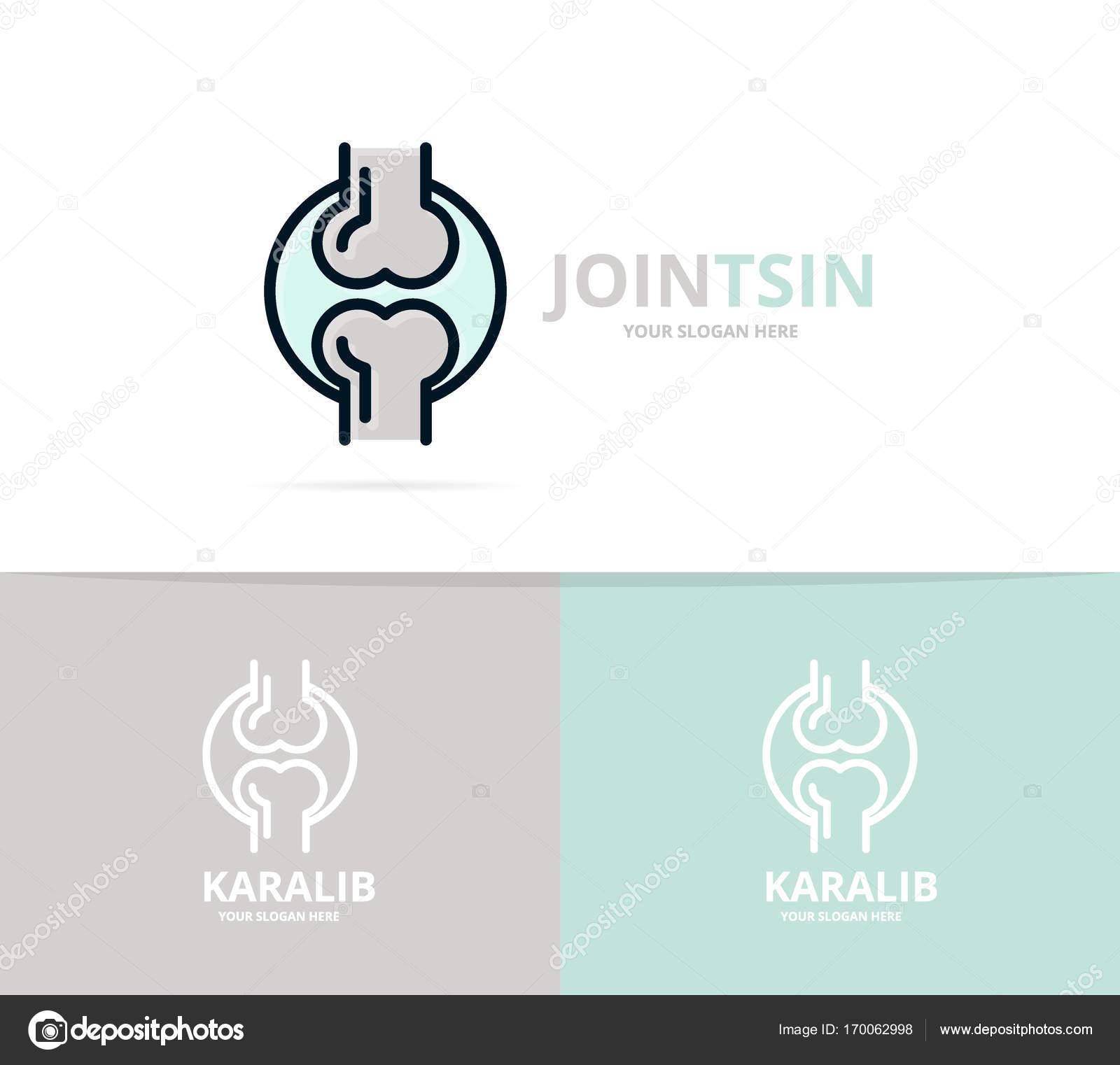 Einzigartige Gelenk und Knie-Logo Design-Vorlage. Einzigartige ...