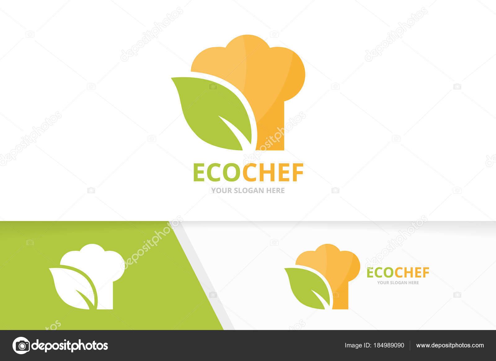 Vectores chef hat y hoja logo combinación. Icono o símbolo de la ...
