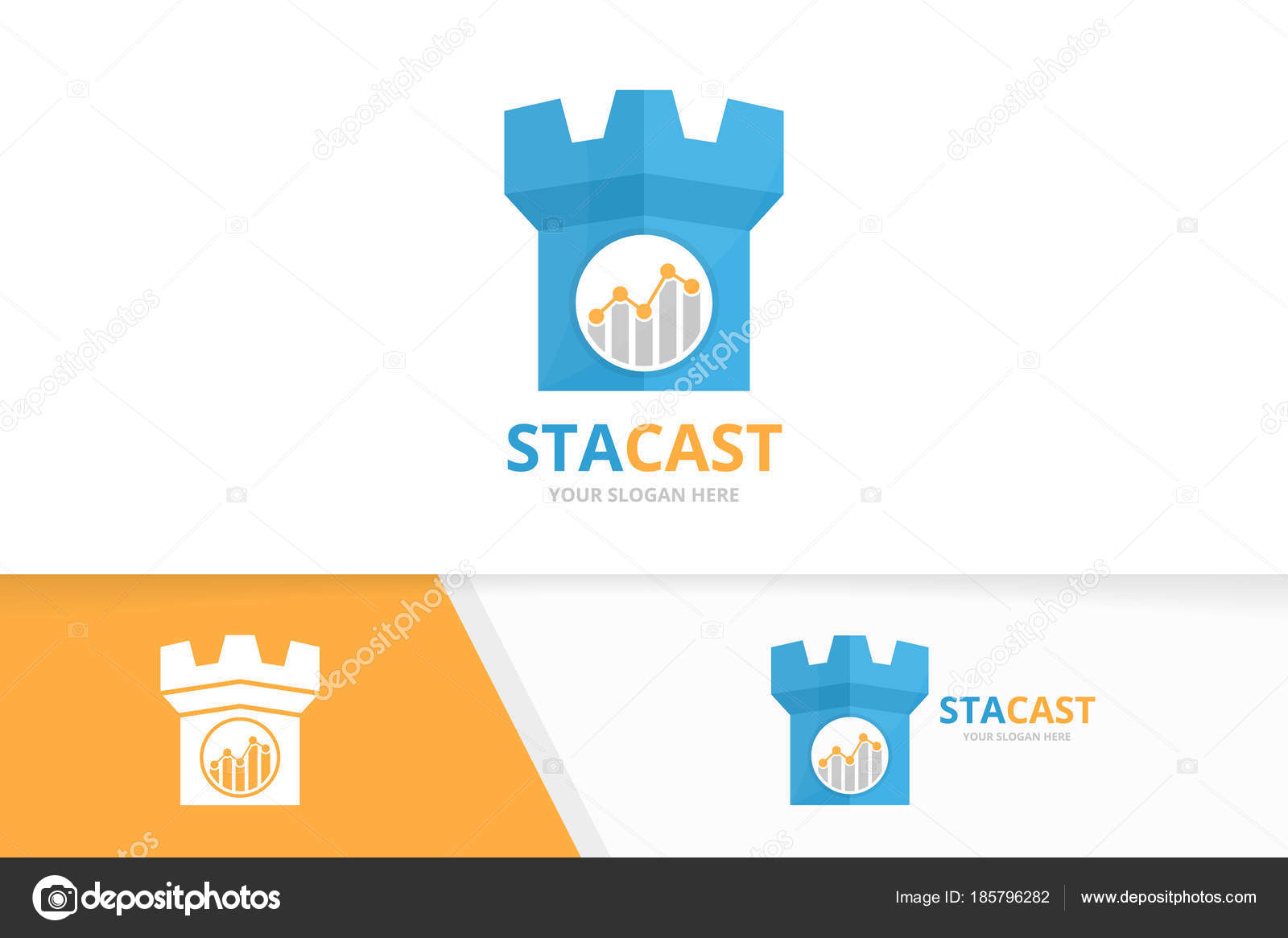 depositphotos_185796282 stock illustration vector graph and castle logo vector graph and castle logo combination diagram and tower symbol