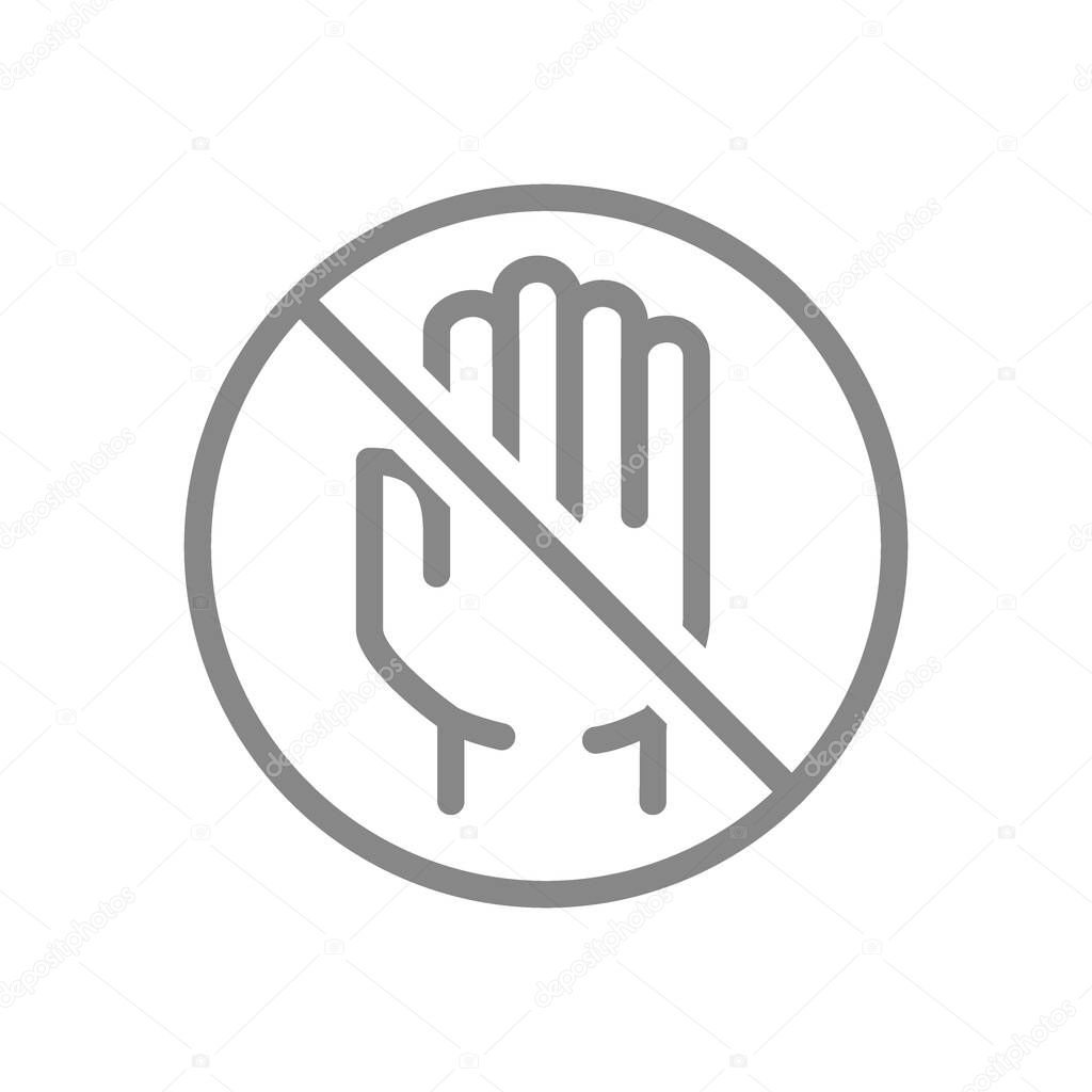 Human Hand With Prohibition Sign Line Icon No Touch Hygiene Protection Dirty Hands Symbol And Sign Illustration Design Isolated On White Background Premium Vector In Adobe Illustrator Ai Ai Christmas coronavirus photos new backgrounds popular beauty photos popular transparent png collages. human hand with prohibition sign line