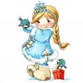 baby girl snow princess