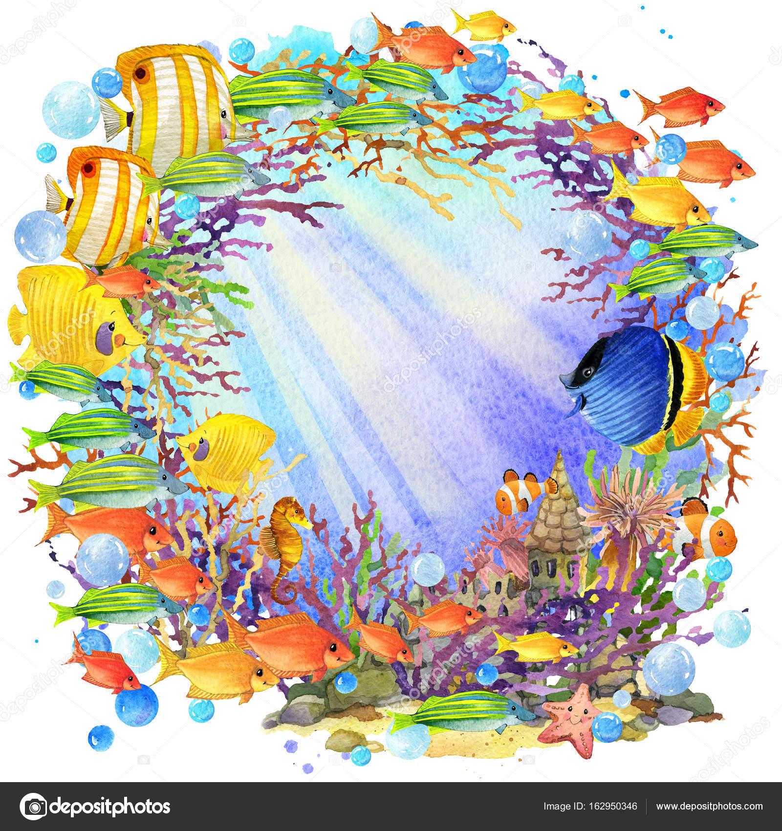 картинки подводного мира рисованные