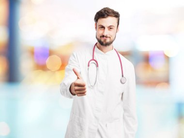 happy doctor man with okay sign