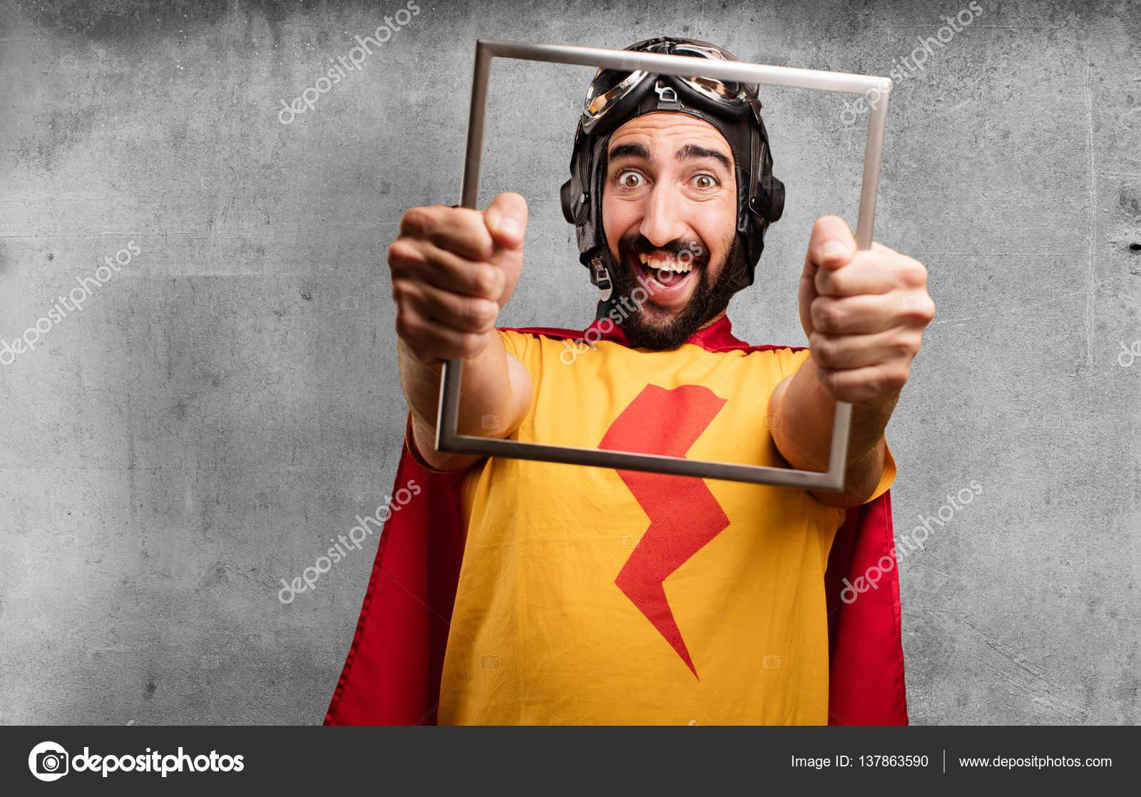 verrückte Superhelden mit Rahmen — Stockfoto © kues #137863590