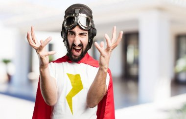 young super hero fighting