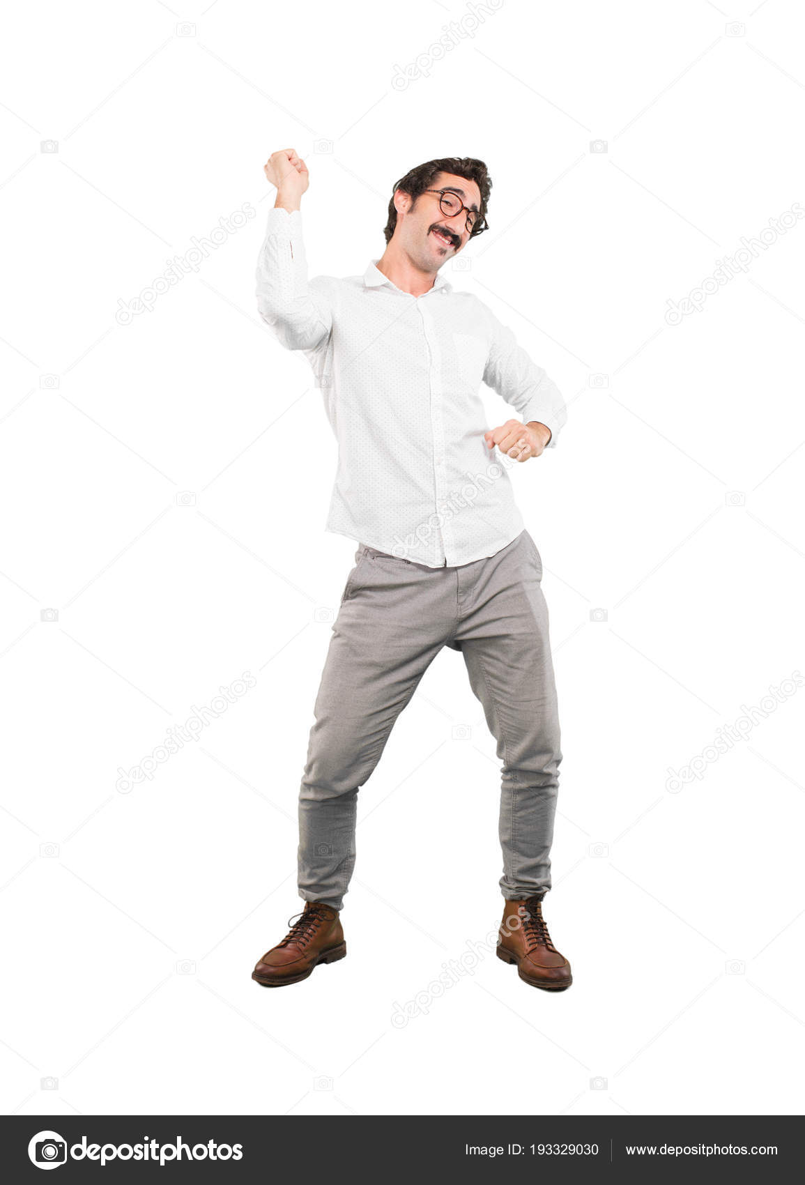 1 Persona Cuerpo Completo Joven Loco Bailando Persona Recorte